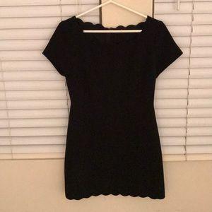 Black Scallop Dress